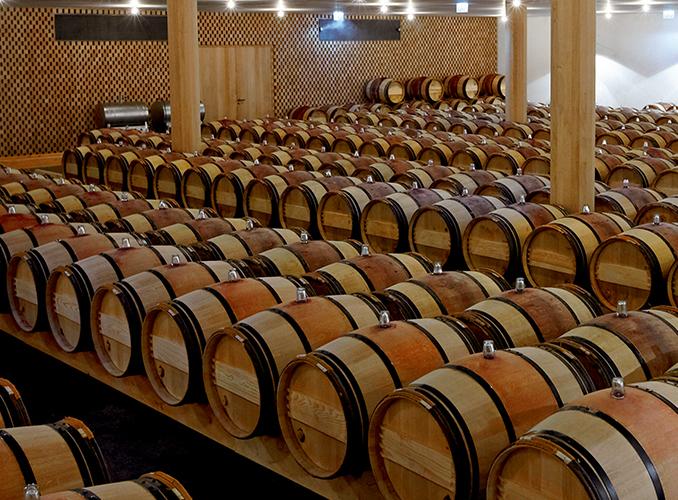 <p>The Barrel Hall and its precious casks.</p>